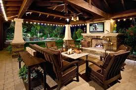 outdoor covered patio lighting patio terranean with patio cover patio cover brown outdoor cushions