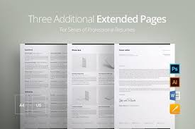 Extended Resume Template Resume Templates Design Three Additional Extended Pages