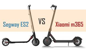 large parison of the segway es2 and xiaomi m365