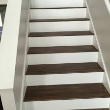 vinyl plank flooring for stairs.  For Luxury Vinyl Plank On Stairs With White Risers Intended Flooring For Pinterest