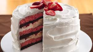 Cream Filled Strawberry Brownie Cake Recipe Pillsburycom