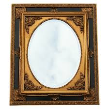 baroque wall mirror oval ornate frame 50x60 20x24 inches antique gold mirror black
