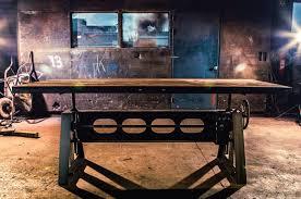 Tischfabrik24 Höhenverstellbar Esstisch Jacklifter Industriedesign