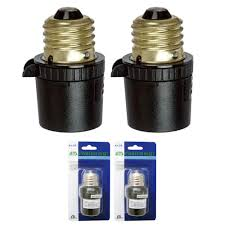 Details About 2 Pack Auto Sensor Dusk To Dawn Photocell Light Control Screw In Bulb Socket Blk