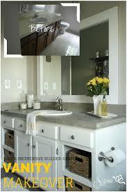 bathroom vanity remodel. Old Builder Grade Bathroom Vanity Makeover (Plus Tutorial!) - Sypsie Designs Remodel