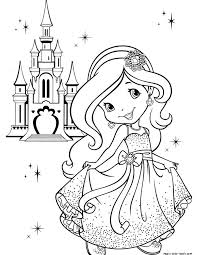 Small Picture Princess girl coloring pages online free castle crown