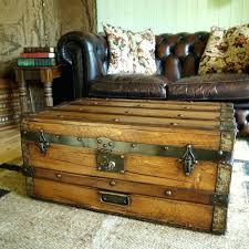 trunk style coffee tables trunk style coffee table inspirational vintage steamer trunks with storage antique chest coffee table with drawers trunk style
