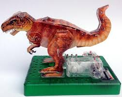 2018 3d origami diy electric dinosaur kingdom triceratops electric circuit paper science kit for kid paper science model kit baby toy from worldofchildren