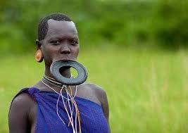 african tribal lip plates