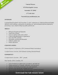 Dental Assistant Resume Templates Formidable Great Resumes Sample No
