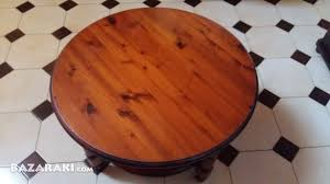 solid wooden pine rosedale round coffee table 1