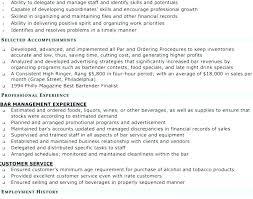 Exquisite Ideas Best Bartender Resume Bartender Resume Objectives