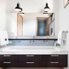 Blue and brown bathroom designs Brown Vanity Inspiration For Large Transitional 34 Blue Tile And Subway Tile Porcelain Floor Bathroom Houzz Blue And Brown Bathroom Ideas Houzz