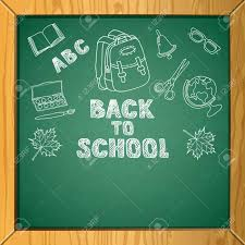 School Chalkboard Background Vector School Chalkboard Background With Hand Drawn Childish