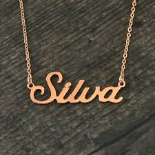 any personalized name necklace alloy pendant alison font