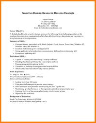 9 Hr Resume Objective Letter Setup