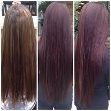 Deep Burgundy Wine Hair Color With