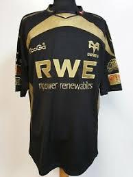 Details About Bb362 Mens Kooga Ospreys Npower Black Gold S Sleeve Rugby Shirt Uk L Eu 54