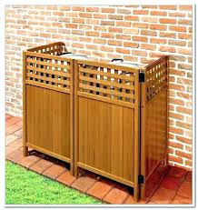 outdoor trash can. Trash Can Enclosure Fence Hide Garbage Cans Outdoor Ways To Outside Vinyl