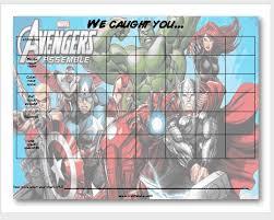 Marvel Reward Chart Printable Free Printable Avengers Behavior Chart From Craft Tacular