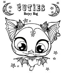 Littlest Pet Shop Coloring Pages Betsy Bat Coloringstar