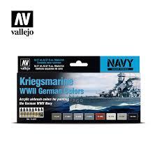 Kriegsmarine Wwii German Colors Vallejo Navy 71615