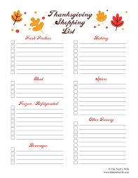 Thanksgiving Grocery List Template 28 Free Printable Grocery List Templates Kittybabylove Com