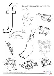 letter f color pages start with the letter f colouring page