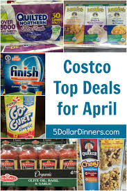 costco top deals for march 2017 batteries toilet paper dishwasher laundry detergent sunscreen more by 5 dinners foods