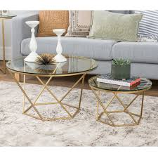 nesting end tables. Shop Silver Orchid Grant Geometric Glass Nesting Coffee Tables - On Sale Free Shipping Today Overstock.com 20559232 End
