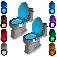 Đèn Ngủ Nhiều Màu Sắc Khác Nhau Ghế Ngồi Vệ Sinh Đèn Chống Nước Đèn Cho Nhà  Vệ Sinh LED WC Đèn Đèn Thông Minh Cảm Biến Chuyển Động Cảm Biến