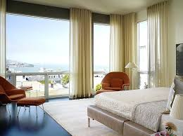 Sheer Bedroom Curtains View In Gallery Minimalist Ripple Fold Drapes Set  The Tone In This Master . Sheer Bedroom Curtains ...