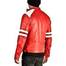 hugme fashion new stylish genuine leather jacket color sport bike er jk164