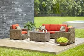 patio furniture 4 piece set halsted wicker thresholdtm best