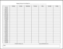 Class Planner Online Online Daily Planner Free Class Schedule Template College Maker