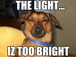 THE LIGHT... IZ TOO BRIGHT - Britelite - quickmeme via Relatably.com