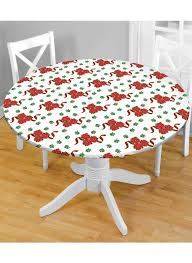 holiday fitted tablecloths for charming table decoration ideas