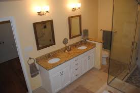 white bathroom cabinets with granite. White Painted Cabinets, Granite Tops, Undermount Sinks, Brushed Nickel Traditional-bathroom Bathroom Cabinets With
