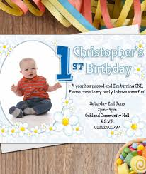 Personalised Birthday Invitations For Kids Printed Birthday Invitations Personalised Boys First St Birthday