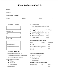 Sample College Checklist New Application Checklist Templates 44 Free Samples Examples Format