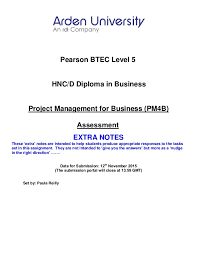 project management assignment help for mba students pearson btec level 5 hnc d diploma in business project management for business pm4b