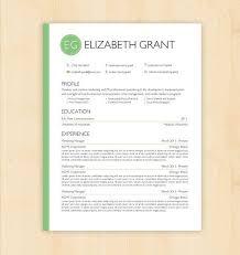 Download Word Doc Resume Template Cv Template The Elizabeth Grant Resume Design