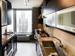 When your cabinets and appliances are all situated on one wall, use a rich paint colour to highlight the area, while keeping the rest of the space neutral. Small Galley Kitchen Ideas Pictures Tips From Hgtv Hgtv