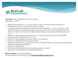 peoplesoft technical consultant resume peoplesoft technical
