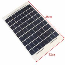 leory 12v 10w solar panel polycrystalline cells diy solar module resin with block diode 2 alligator clips 4m cable