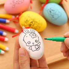 4set easter eggs 4 watercolor pen educaitonal toys for children water color pen kids diy painting
