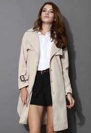 more views chic me up belted khaki trench coat