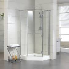 corner shower with neo angle shower glass enclosure also bathroom tile design