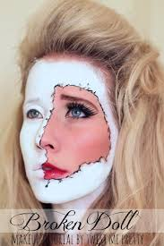 broken doll makeup tutorial 1 of 12
