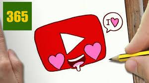 Comment Dessiner Youtube Logo Amour Kawaii Tape Par Tape